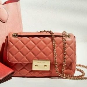 Michael Kors quilted flap bag
